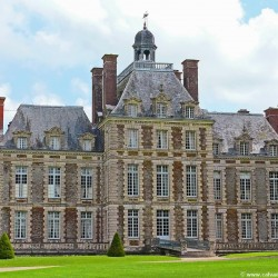 Almost 400 years old, the Château of Balleroy now belongs to the Forbes family