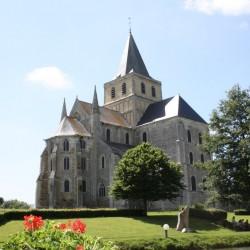 Old Saint Victor Benedictine Abbay church at Cerisy-la Forêt