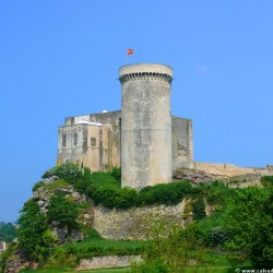 Fortified medieval castle in Falaise, William the Conqueror's birthplace