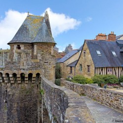 Imposing fortified castle of Fougères