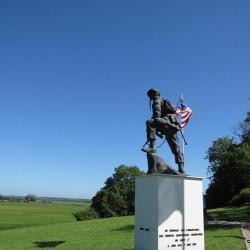 US paratroopers monument at La Fiere bridge