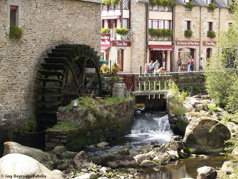 Watermill in Pont-aven where gauguin and friends painted in the late 19th century