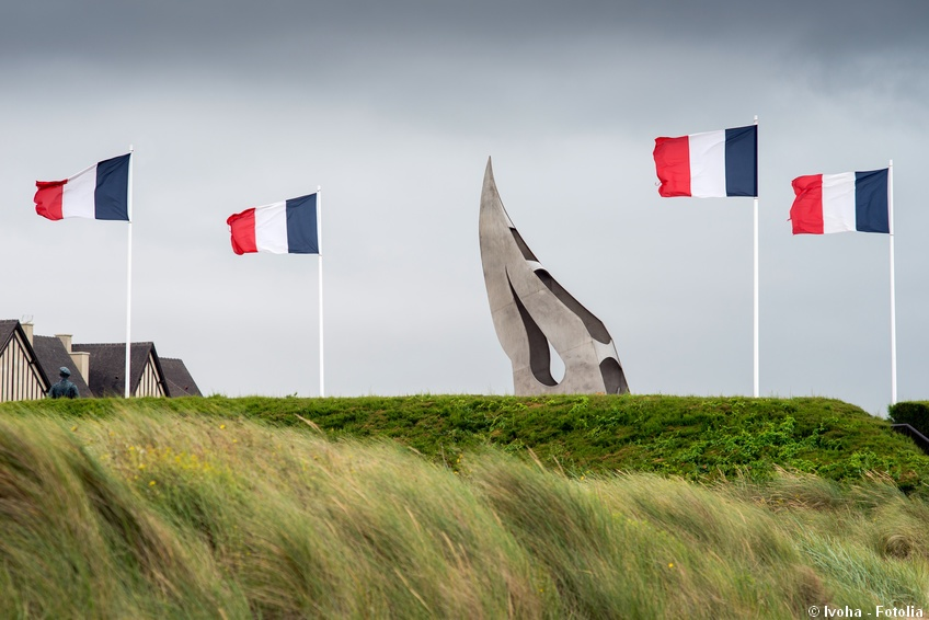 Sword beach assaulted by the british troops on D-Day