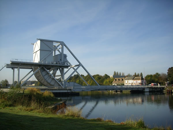 New bridge over the Caen canal replacing pegasus bridge